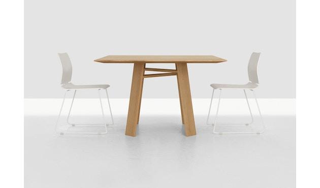 Zeitraum - Bondt Tisch - quadratisch - Esche massiv - 100 x 100 cm - 2