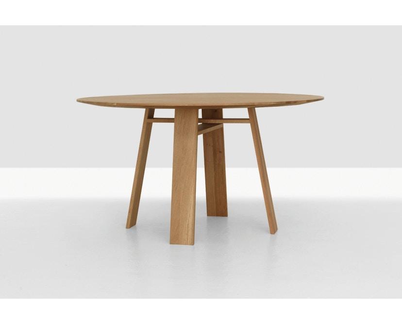 Zeitraum - Bondt Tisch - rund - Eiche massiv - 120 cm - 3