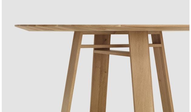 Zeitraum - Bondt Tisch - rund - Eiche massiv - 120 cm - 4