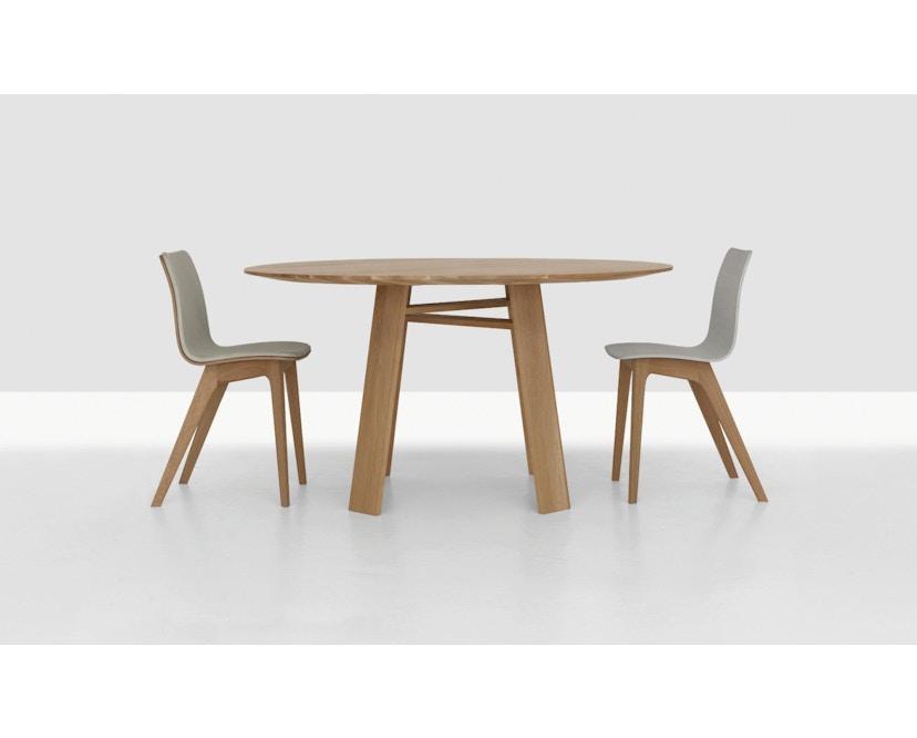 Zeitraum - Bondt Tisch - rund - Eiche massiv - 120 cm - 5