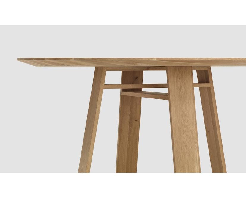 Zeitraum - Bondt Tisch - rund - Esche massiv - 120 cm - 4