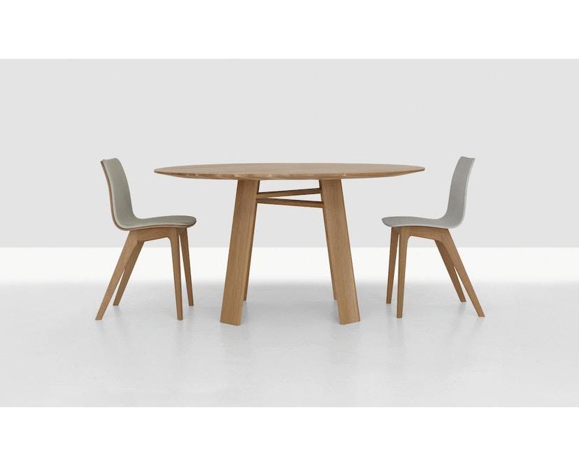 Zeitraum - Bondt Tisch - rund - Esche massiv - 120 cm - 5