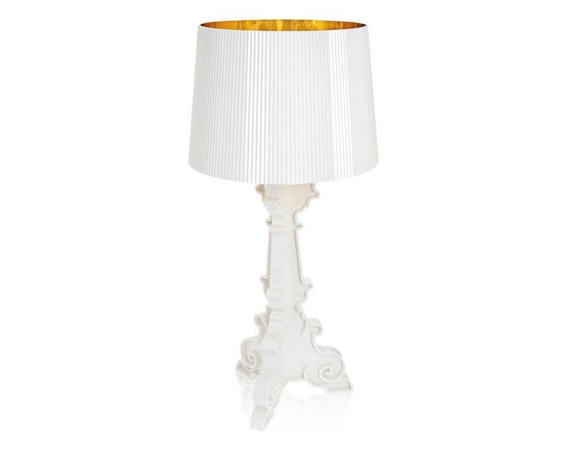 Kartell - Bourgie Tischleuchte - weiß/gold metallisch - 1