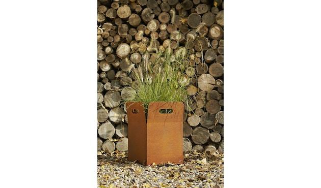 Flora - Box 40 Pflanzengefäß outdoor- Cortenstahl - 4