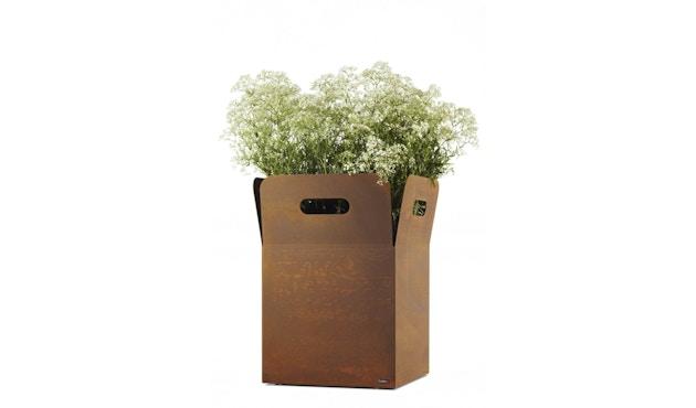 Flora - Box 60 Pflanzengefäß outdoor- Cortenstahl - 1