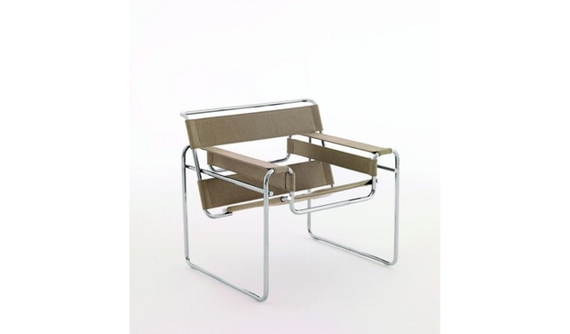 Knoll International - Breuer Original Wassily Loungesessel - Canvas Leinen  - 1