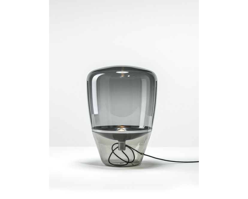 Brokis - Balloon Tischleuchte - S - schwarz lackiert - Grauglas - 1