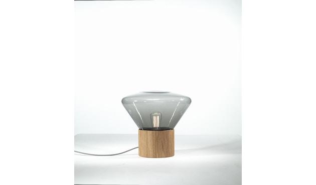 Brokis - Muffin Tischleuchte - Eiche natur - Glas grau - S - 2
