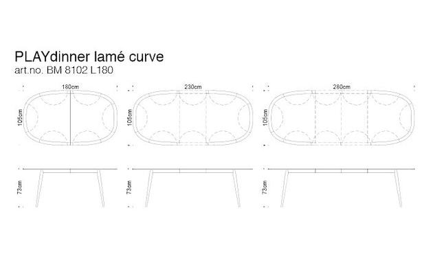 bruunmunch - Playdinner lamé , erweiterbar mit Verstauung - Eiche geseift - 13