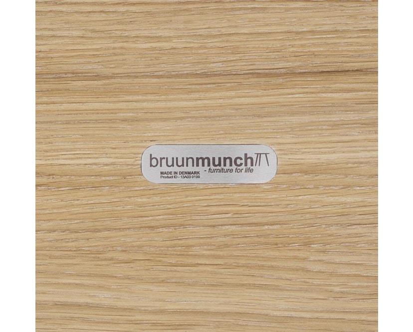 bruunmunch - Playrectangular Couchtisch 32 cm - Eiche geseift/ Eiche geseift - 1
