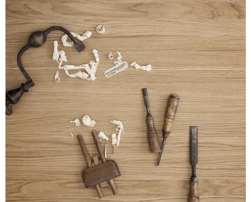 bruunmunch - Playrectangular Couchtisch 32 cm - Eiche geseift/ Eiche geseift - 2