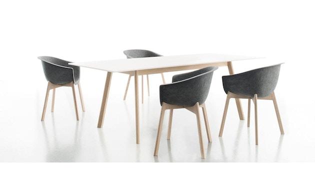 Conmoto - PAD Tisch  - HPL weiß - Eiche weiß - 2
