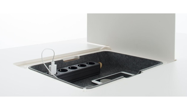 Conmoto - PAD Tisch mit Ausschnitt - CCL  weiß - Eiche weiß - 4