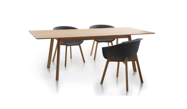 Conmoto - PAD Tisch  - HPL weiß - Eiche weiß - 3