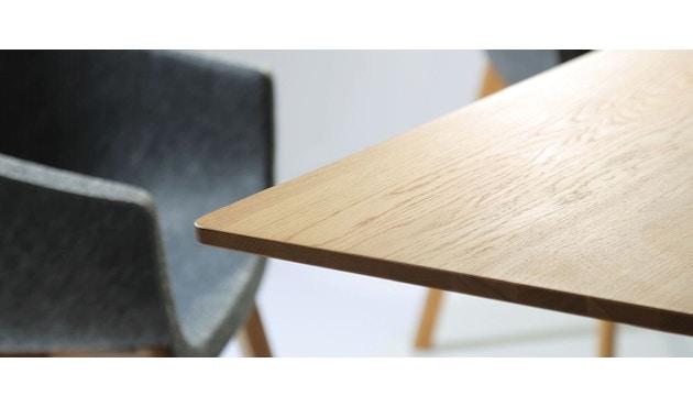 Conmoto - PAD Tisch  - HPL weiß - Eiche weiß - 4