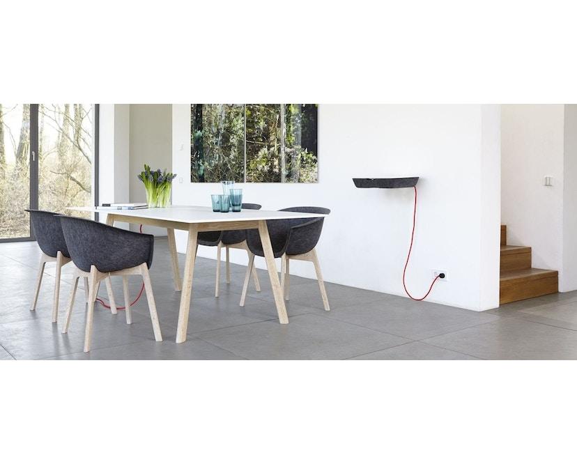 Conmoto - PAD Tisch  - HPL weiß - Eiche weiß - 5