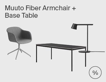 Muuto Base Table & Fiber Chair