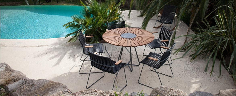 Houe Click Dining Armlehnstuhl und Circle Tisch
