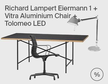 Eiermann 1 & Vitra Aluminium Chair & Tolomeo