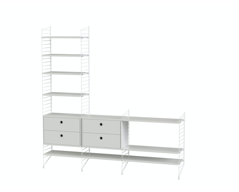 Regal-Schrankkombination Wohnzimmer Bundle J