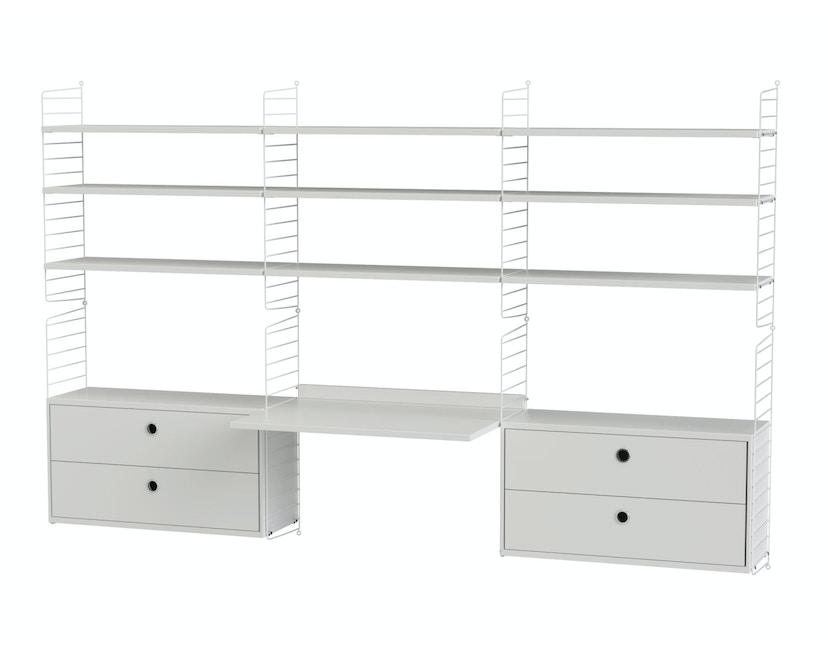 Arbeitszimmer Schreibtisch mit Regal Bundle F