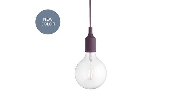 Muuto - Suspension E 27 LED - rouge bourguignon - 1