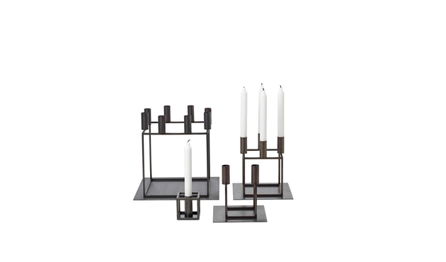 by Lassen - Kubus 8 Kerzenhalter - kupfer brüniert - 5