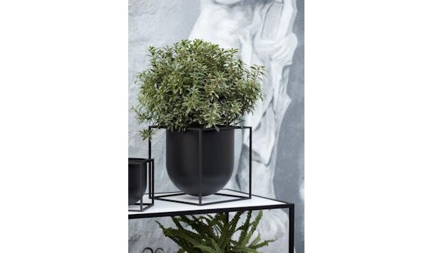by Lassen - Pot de fleurs Kubus  - 14 cm - noir - 5