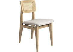 Chaise C-Chair rembourrée + french cane