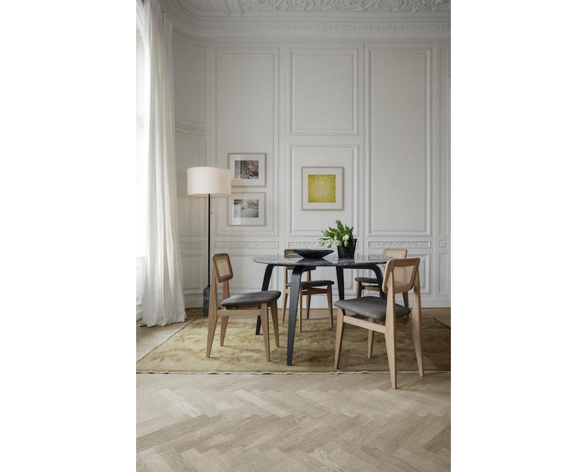 C-Chair Stuhl gepolstert + french cane
