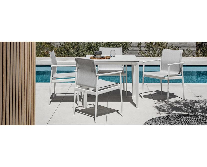 Gloster - Carver keramische tafel - Keramiek zwart - 89 x 89 cm - wit - 2
