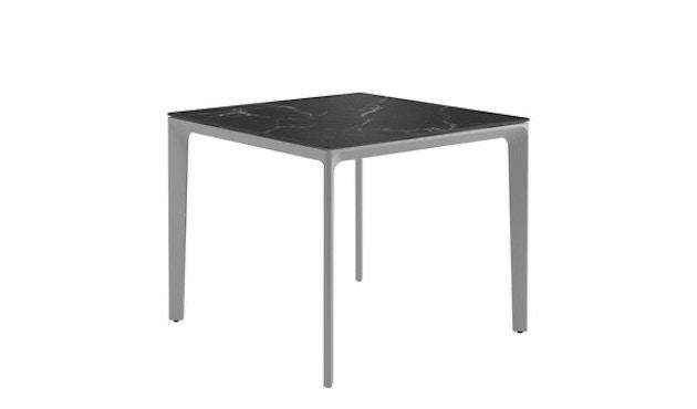 Gloster - Carver keramische tafel - Keramiek zwart - 89 x 89 cm - wit - 1