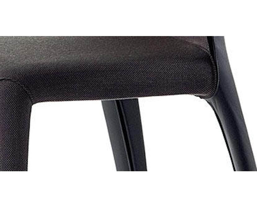 Cassina - 369 Hola Stuhl - Stoff schwarz/Leder schwarz - 2