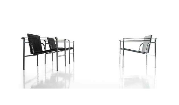 Cassina - LC 1 Stuhl - Gestell schwarz - Leder schwarz - 2