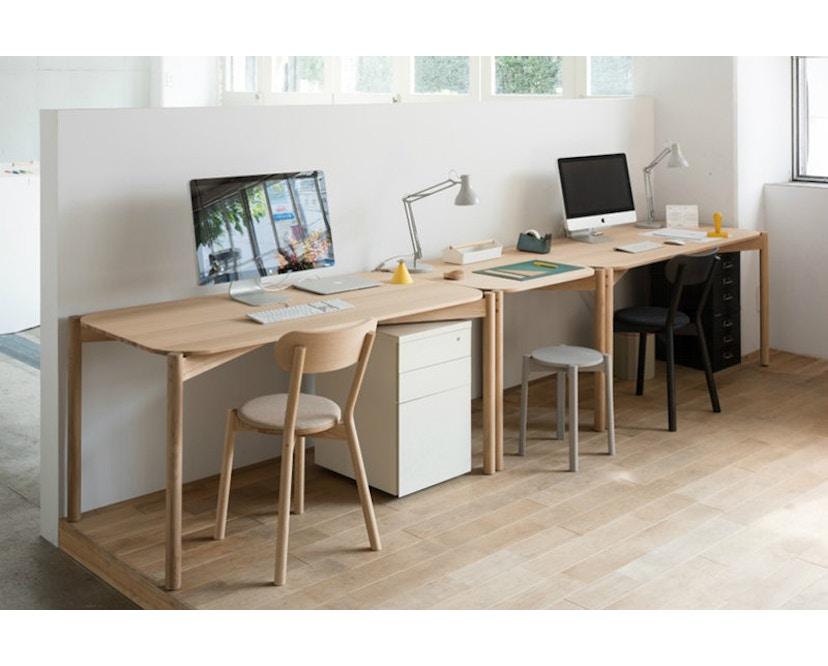 Karimoku New Standard - Castor Stuhl gepolstert - Eiche schwarz - 3