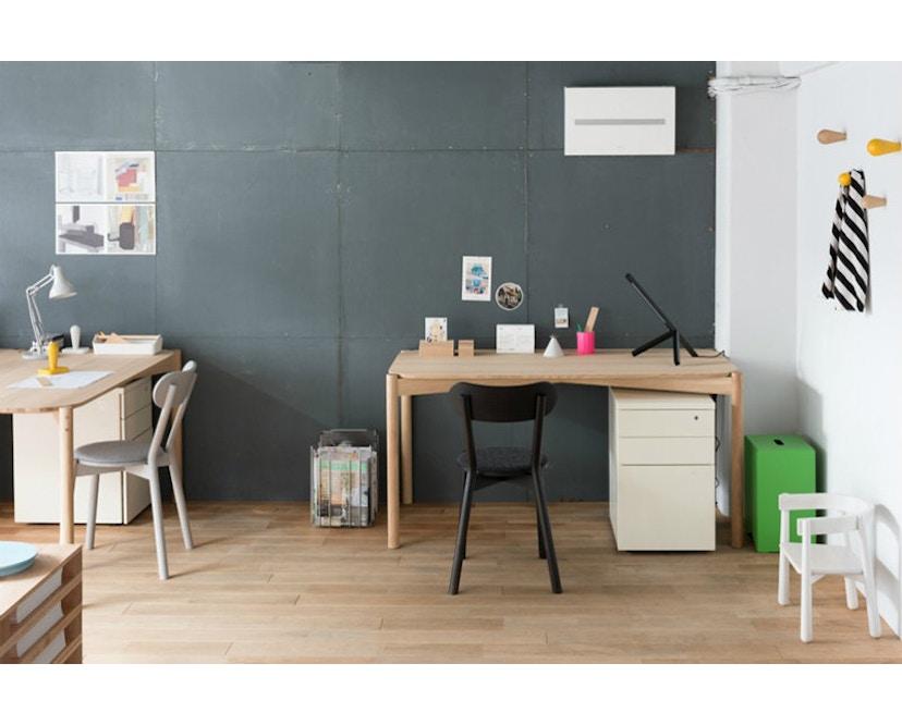 Karimoku New Standard - Castor Stuhl gepolstert - Eiche schwarz - 4