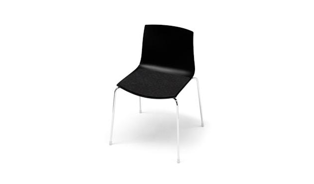 Hey-Sign - Sitzauflage Catifa 46 - 02 schwarz mit Antirutsch - 1