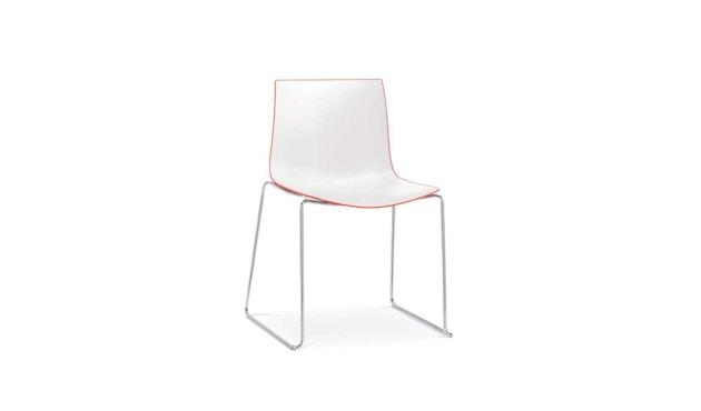 Arper - Catifa  46 Stuhl - bicolour rot/weiß - Kufengestell - 1