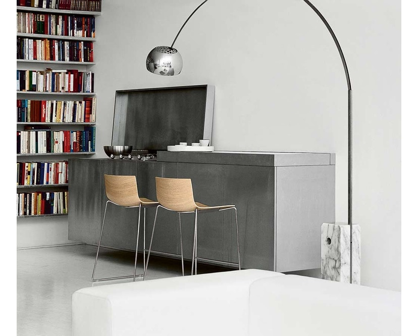 Arper - Catifa 46 Stuhl - bicolour schwarz/weiß - Gestell verchromt - 4