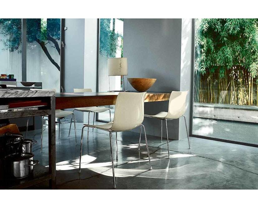 Arper - Catifa 46 Stuhl - bicolour schwarz/weiß - Gestell verchromt - 6