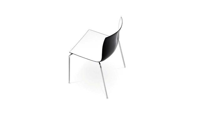 Arper - Catifa 46 Stuhl - bicolour schwarz/weiß - Gestell verchromt - 2