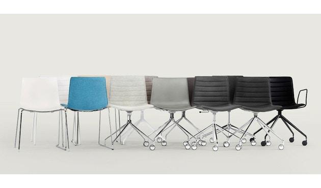 Arper - Catifa 46 Stuhl - einfarbig weiß - Gestell verchromt - 1