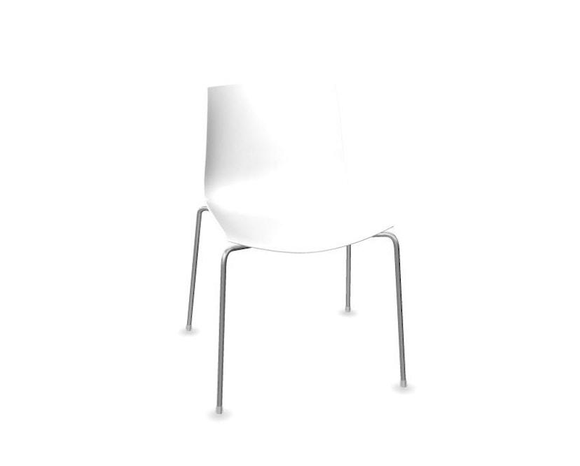 Arper - Catifa 46 Stuhl - einfarbig weiß - Gestell verchromt - 0