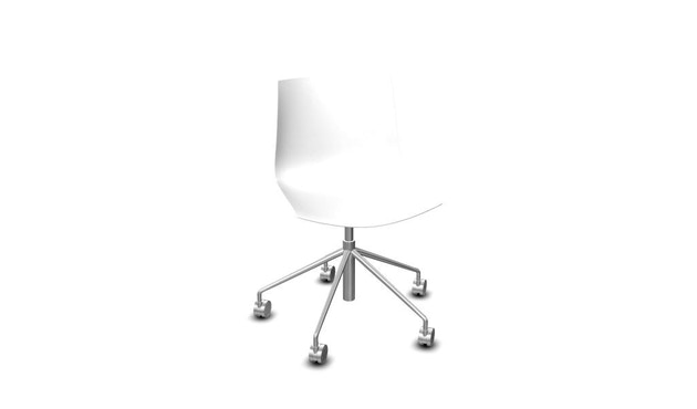 Arper - Catifa 46 stoel met 5-traps draaistel 0294 - wit - 1
