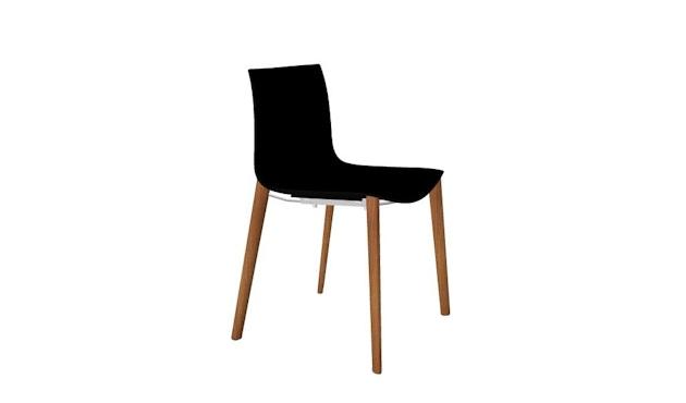 Arper - Catifa 46 Stuhl 0355 - einfarbig schwarz - Gestell Eiche natur - 2