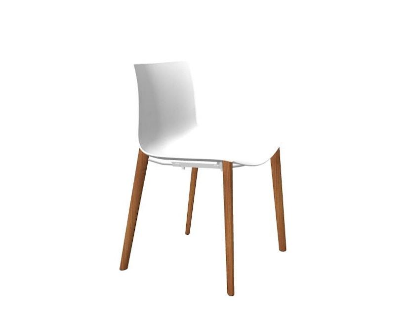 Arper - Catifa 46 Stuhl 0355  - einfarbig weiß - Gestell Eiche natur - 2