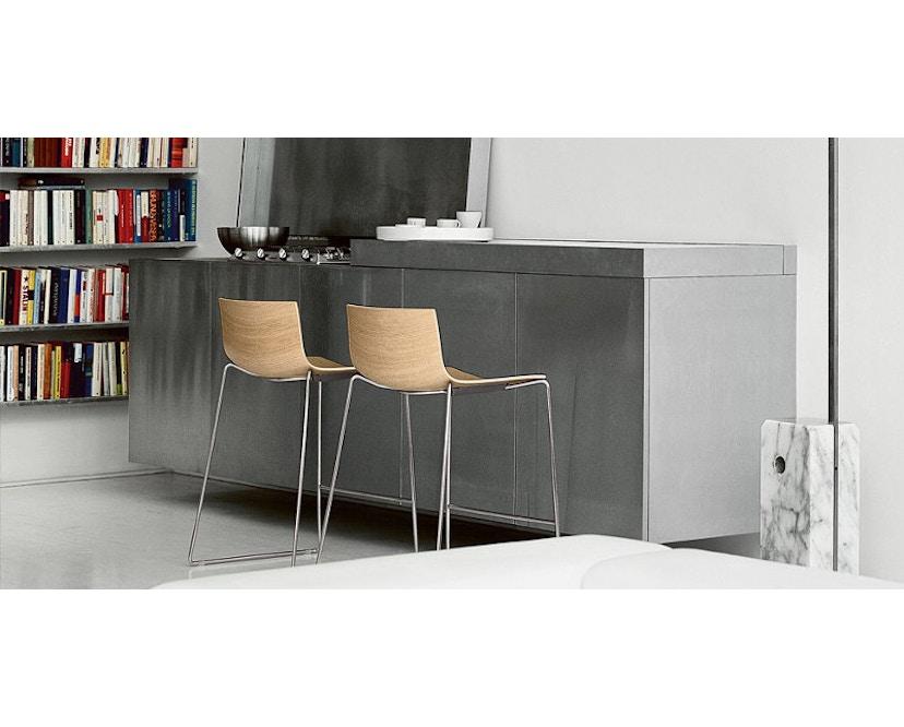 Arper - Catifa 46 Stuhl mit 5-strahligem Drehgestell 0294 - 16