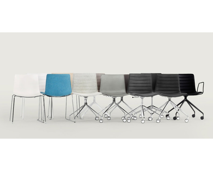 Arper - Catifa 46 Stuhl mit 5-strahligem Drehgestell 0294 - 18