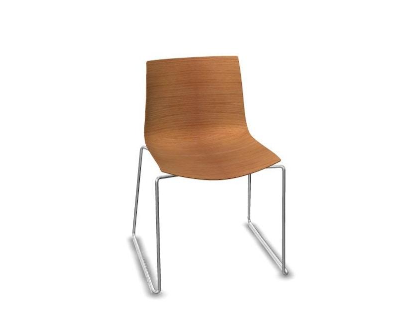 Arper - Catifa 46 Stuhl mit Kufen - Eiche natur - 1