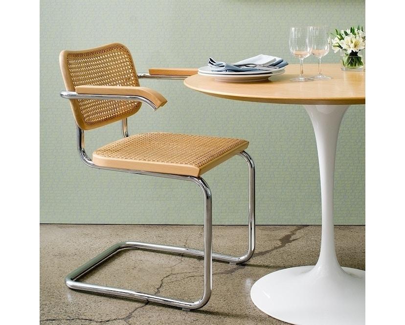 Knoll International - Saarinen Eettafel - rond - Ø 91 cm - zwart - Laminaat wit - 2